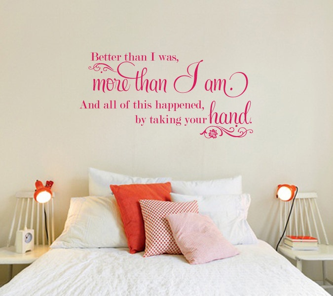 Wall Decal   Romantic Love Marriage   More Than I Am. $40.00, Via Etsy