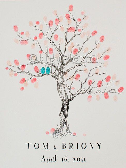 "Fingerprint tree ""guest book"" (pic heavy) - Weddingbee"