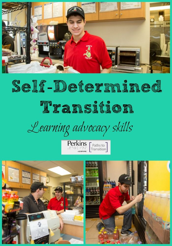 A young adult with low vision shares tips for developing self-determination and advocacy skills during the transition process