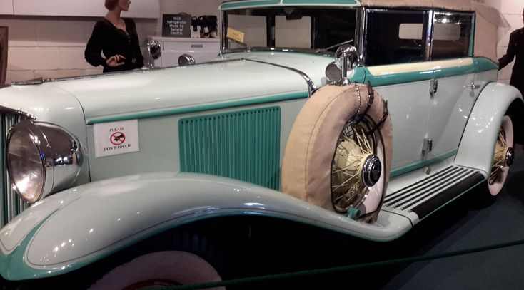 1930 Cord Car - A L-29 Phaeton, with front-wheel drive, forward transmission, and shift lever located on the dash panel. It has 120-HP, water-cooled, Lycoming straight 8 gasoline engine. It cost $2,595 and was made in Auburn, IN.