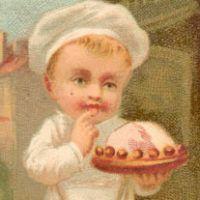 Vintage Boy Holding A Shoe - Cobbler - The Graphics Fairy