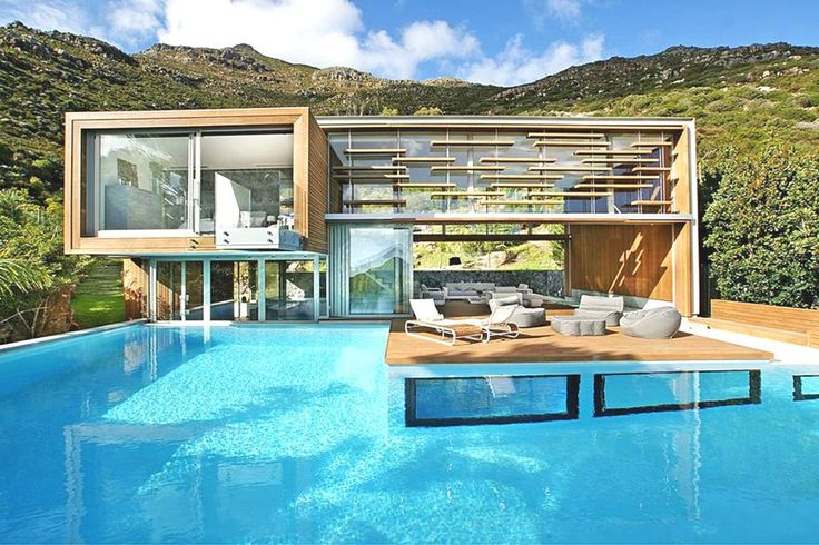 """...um, honey, you can catch me by the pool, just reading. Look down and blow me kisses when u miss me...""  Too sexy.    The Luxury Spa House, Cape Town, South Africa (via adelto.co.uk)"
