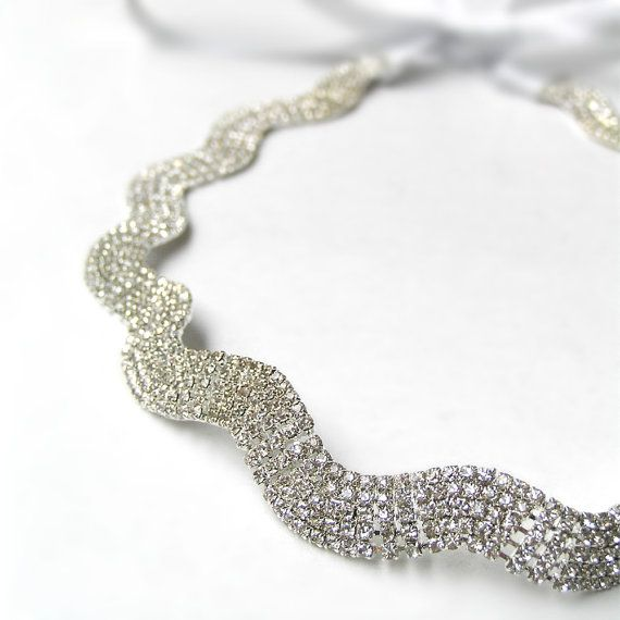 Tocado de corona diadema de diamantes de imitación por curtainroad