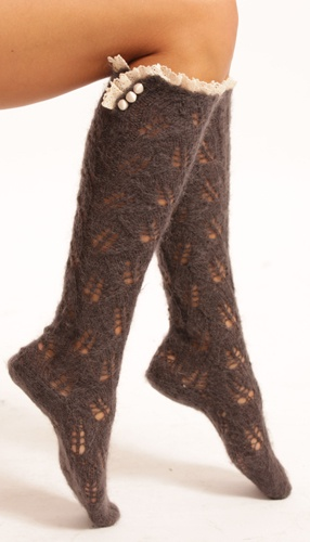 Cute Boot Socks which are great for our cold winters. Got to get some this year.