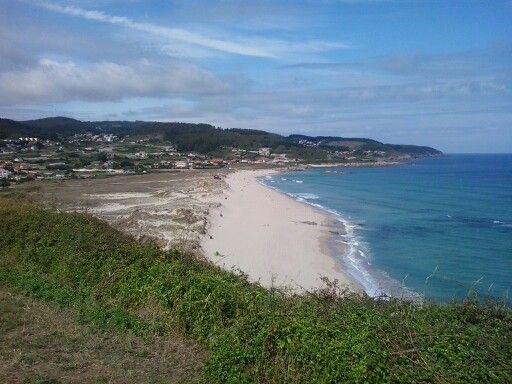 Vista da praia de Barrañan