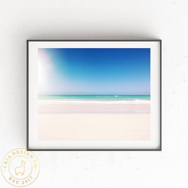 Ocean Art Print, Tropical wall art, Ocean Poster, Ocean Wall Art, Ocean Print, New apartment Decor, Tropical Art Print, Tropical Poster, by CRIADesignCo on Etsy