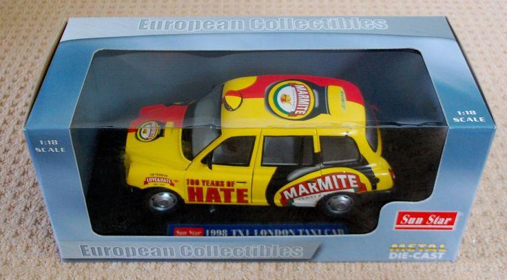 Sun Star TX 1 London taxi. Marmite livery. Mint in box.   eBay