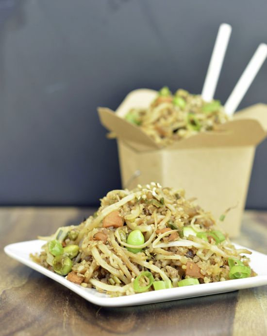 Zero carb amazing fried rice | Vegetarian Fried Rice Recipe | Potluck at OhMyVeggies.com