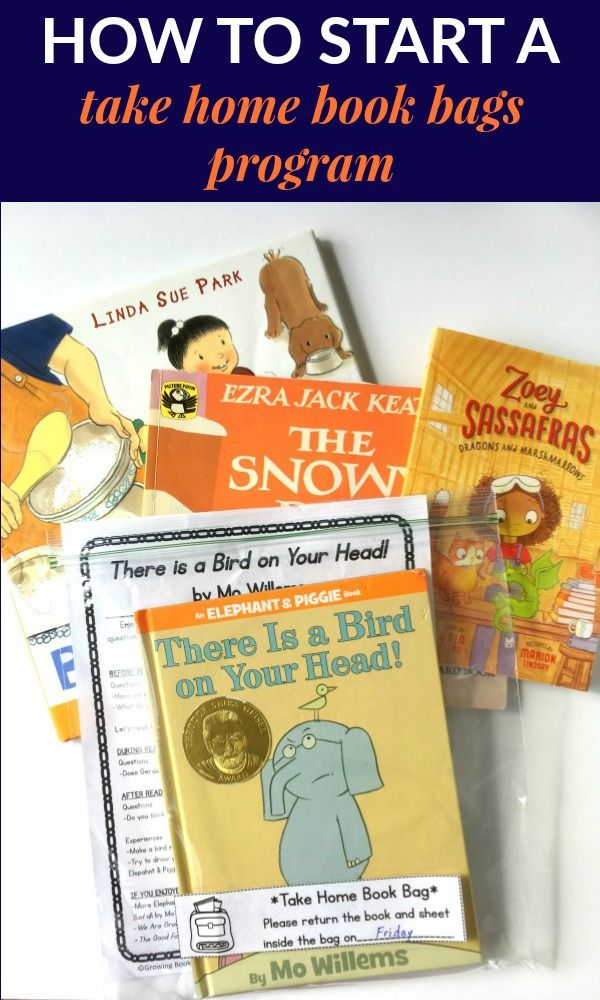 Create a take home book bags program for families. Complete with book buddy sheets, book list, check out sheets and more. Great idea for increasing family involvement with school.