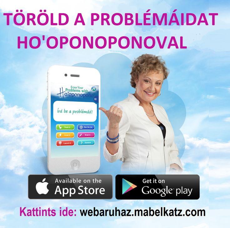 Dame Mabel Katz Ho'oponopono aplikációja Androidra és iPhone/iPodra. Pillanatok alatt, hatékonyan és szórakozva törölheted a problémáidat. Google Play vagy Apple Store áruházban keresheted, a játékok vagy iTunes között. http://bit.ly/1BNTyCr Szeretni fogod.
