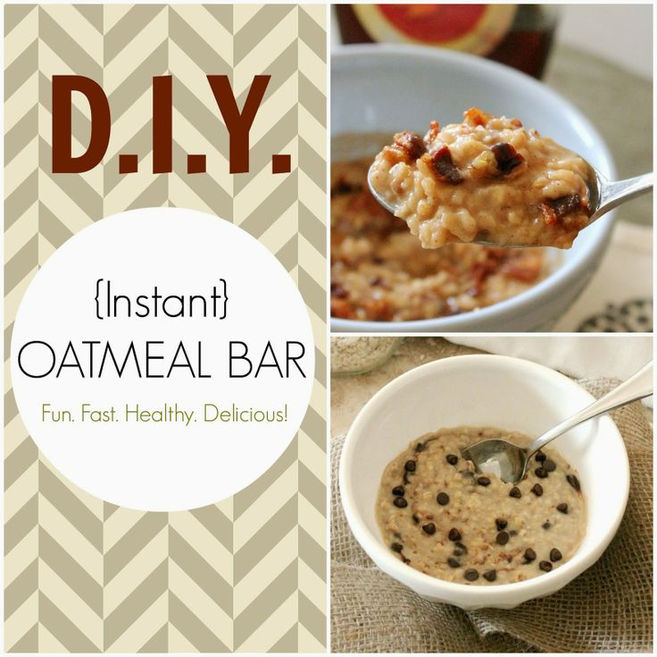 DIY Oatmeal Bar | The Kitchen PrepDiy Instant, S'Mores Bar, S'More Bar, Diy Food, Kitchens Prep, Oatmeal Bar, Brunches Parts, Breakfast Food, Instant Oatmeal