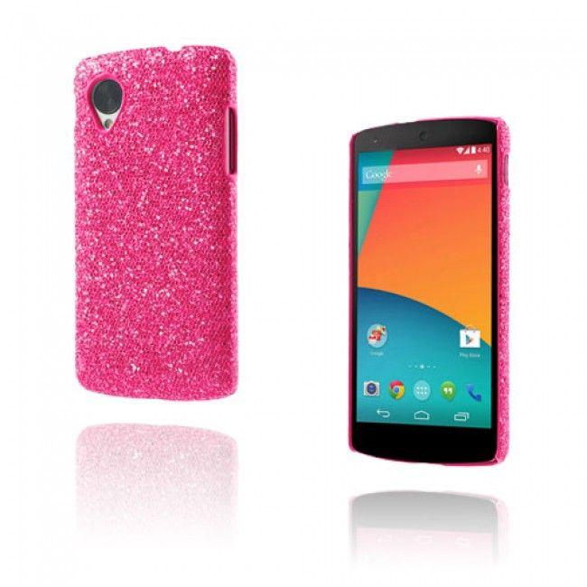 Glitter (Voimakas Pinkki) Google Nexus 5 Suojakuori - http://lux-case.fi/google-nexus-5-suojakuoret.html