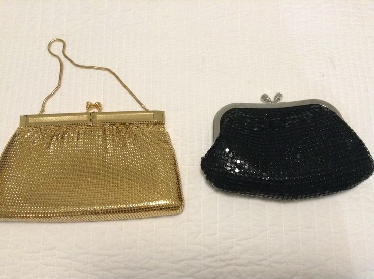Two glo-mesh bags. The gold one is from my nan, it's around 30 years old. The other is from Mo-Mo's.