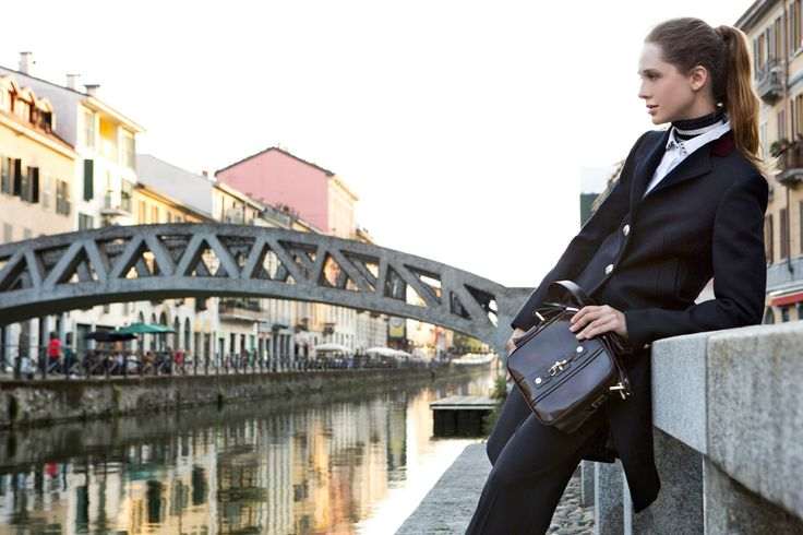 Fay City Diaries features the Women's Fall - Winter 2013/14 collection with the polished backdrop of Milan. Coat. http://www.fay.com/it/city-diaries/milano
