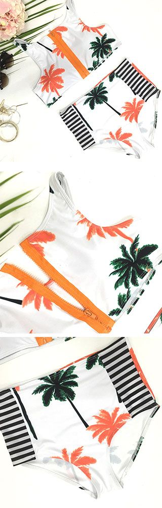 So down for you in this stunner. Only $19.99 Now! Catch your fashion wave with Cupshe Dream State Tropical Tank Bikini Set. Shop more amazing items at Cupshe.com !