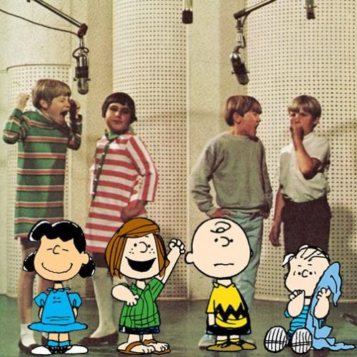 Lucy, Peppermint Patty, Charlie Brown, and Linus, The voices for the the Peanuts characters, 1960s.