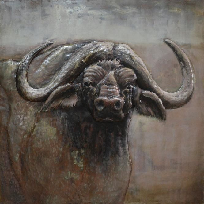 $619.95 This 3D Steel Wall Art Painting Wild Ox is an attractive feature to your Indoor or Outdoor room. This wall art has been hand crafted with a metal frame and handpainted on metal to create a 3D piece. Wonderfully unique, if you are looking for that WOW factor, these are stunning! Dimensions: 1000MM X 1000MM