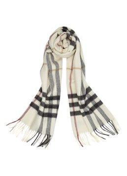 BURBERRY Langwerpige sjaal van kasjmier 170 x 30 cm