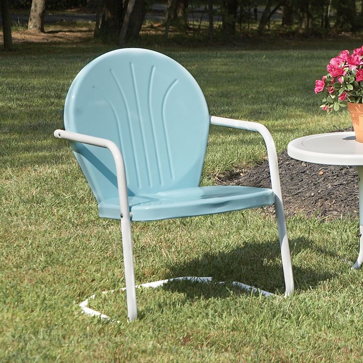 185 best Metal Lawn Chairs images on Pinterest  Metal