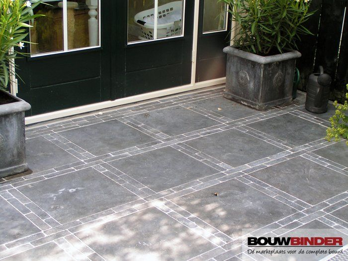 tuintegels Chinees hardsteen 50x50x2,5 cm getrommeld