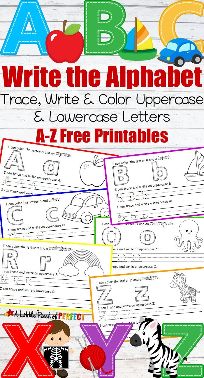 Letter Writing Practice Free Printables Abc Themes For