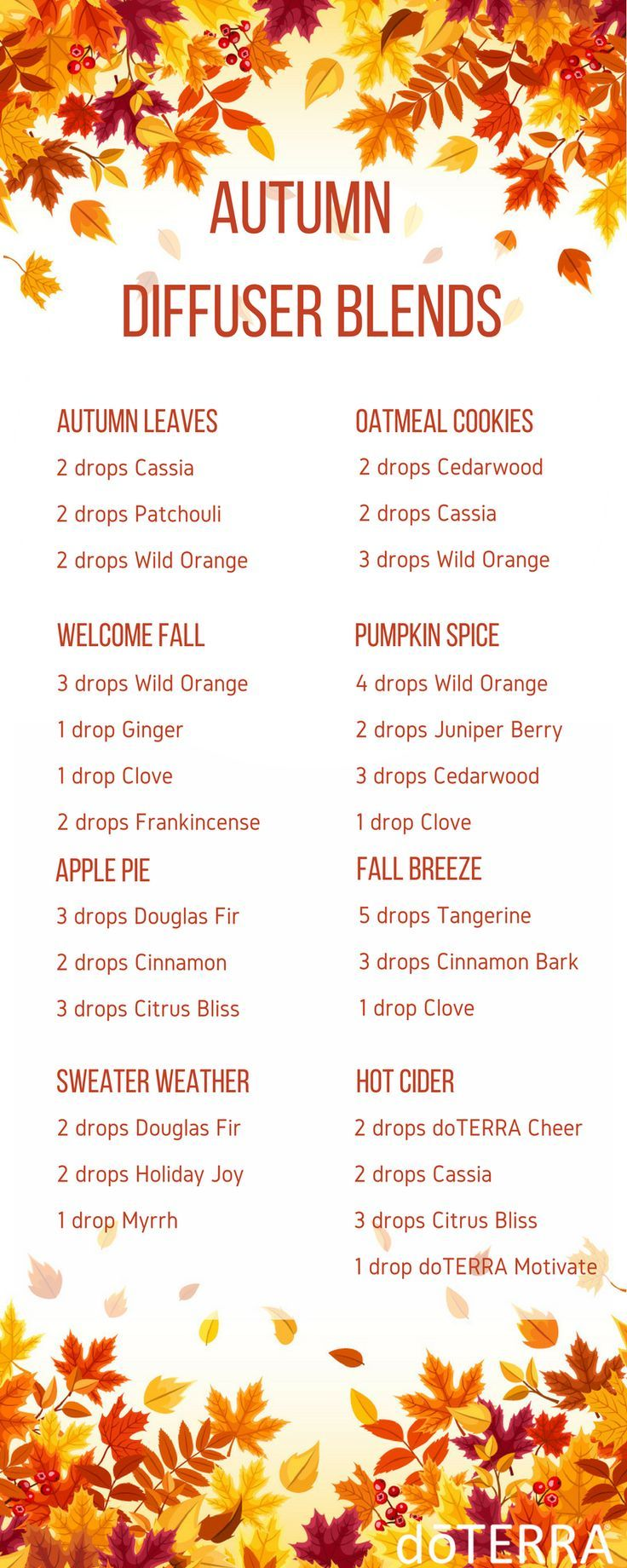 Happy September! Welcome Autumn with these festive diffuser blends!