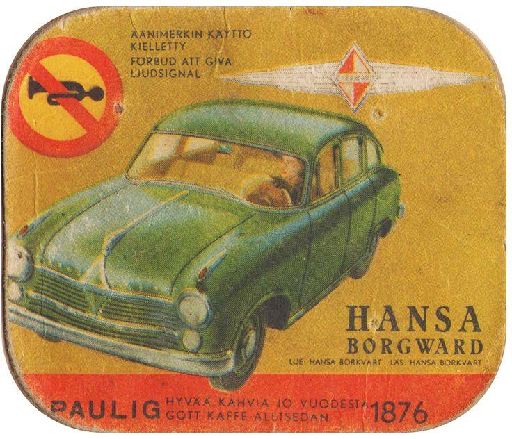 En nostalgitripp fram till jul med hjälp av Pauligs bilkort från mitten av 1900-talet. Hansa Borgward #cars #vintage
