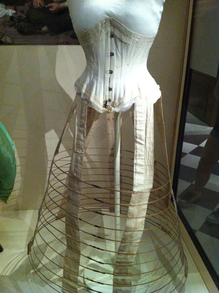 """Victorian undergarments; From the Bata Shoe Museum's """"Fashion Victims: The Pleasures and Perils of Dress in the 19th Century"""" exhibit. I took shots of this from every angle I could and tried to get all the detail for personal costume reference"""