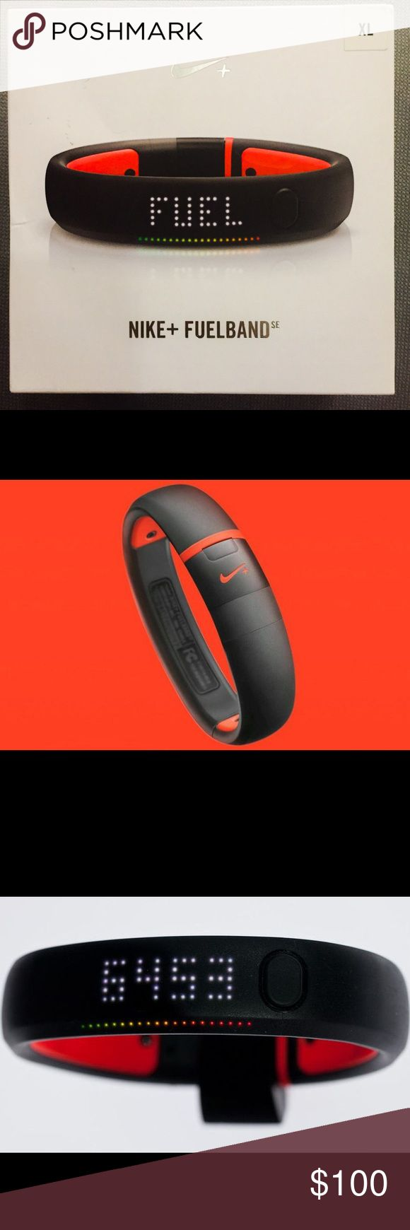 Brand New Nike Fuel Band in XL. Brand New Nike Fuel Band SE. It's an XL and color is black and red. Never used. Brand New In Box with tags. **** Brand New**** No Trades***** Nike Other