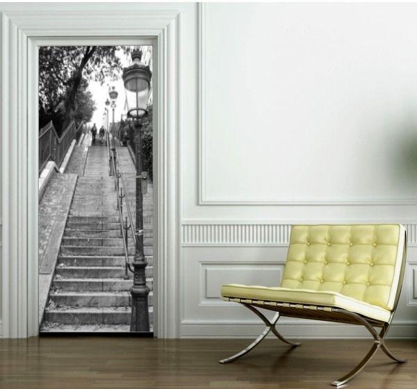 1000 id es sur le th me stickers porte sur pinterest for Sticker decoration de porte trompe l oeil escalier