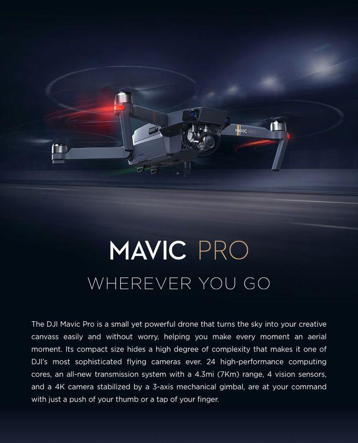 Mavic Pro by DJ, up to 28 min. flight time . http://store.dji.com/product/mavic-pro?utm_source=newsletter&utm_medium=edm&utm_campaign=mavicpro-en&sc_src=email_1044892&sc_eh=4a67abf1bb923d081&sc_llid=535106&sc_lid=50410889&sc_uid=vDv6WI9itA#/?_k=n2ad2o