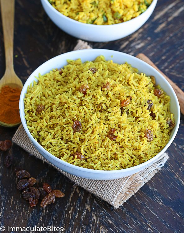 Indian Style Yellow Rice and South African Yellow Rice - 2 recipes! ♥ Immaculate Bites