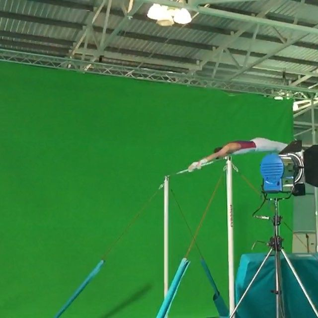 Today we are at Loughborough University filming with @bbcsport ahead of the 2015 World Gymnastics Champs next month!