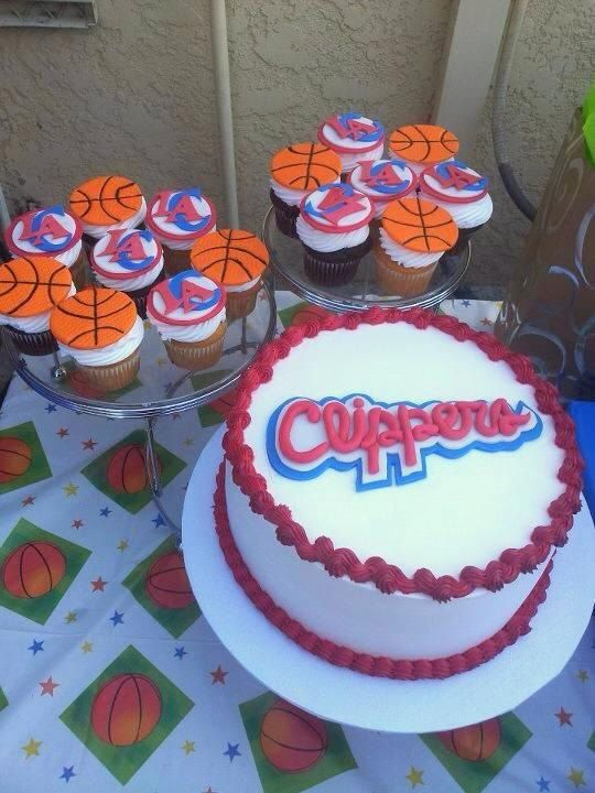 Edible Los Angeles Clippers Cake Topper By Nicolinascakes