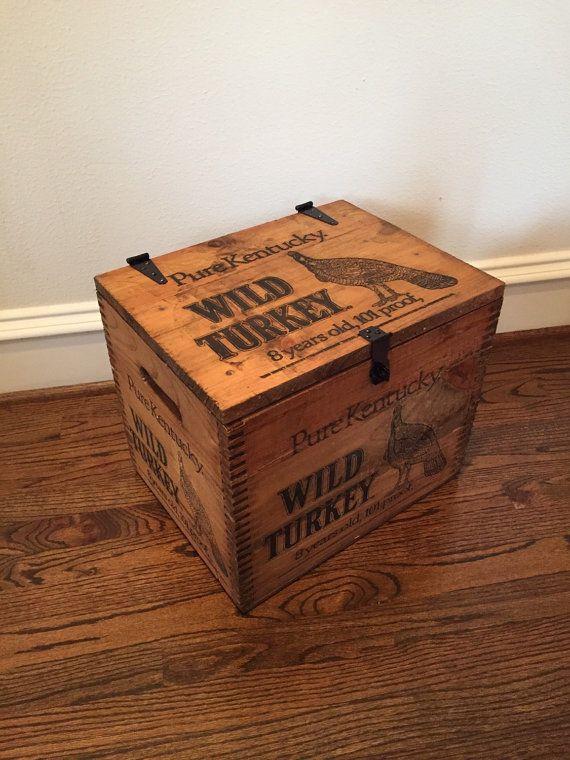Rare Wild Turkey Bourbon Display Whiskey Wood by RaccoonWoodworks