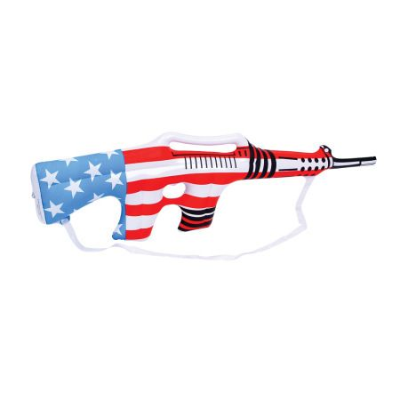 "www.privateislandparty.com  - Inflatable USA Rifle 9140, $1.29 - Every little boy loves the Inflatable USA Rifle. Our red, white and blue Inflatable USA Rifle is a sure hit for your carnival, fair or festival. This item is a huge hit on Memorial Day or Fourth of July! Made with a thick vinyl. Colorful patriotic Inflatable USA Rifle measures 36"" deflated."