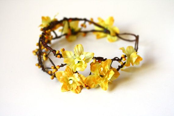 floral hair wreath // woodland collection  willow by kisforkani, $49.00