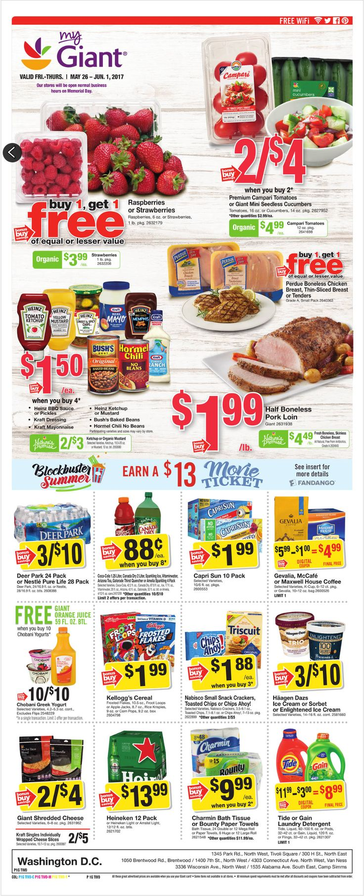 Giant Food Weekly Ad May 26 - June 1, 2017 - http://www.olcatalog.com/grocery/giant-food-weekly-ad.html