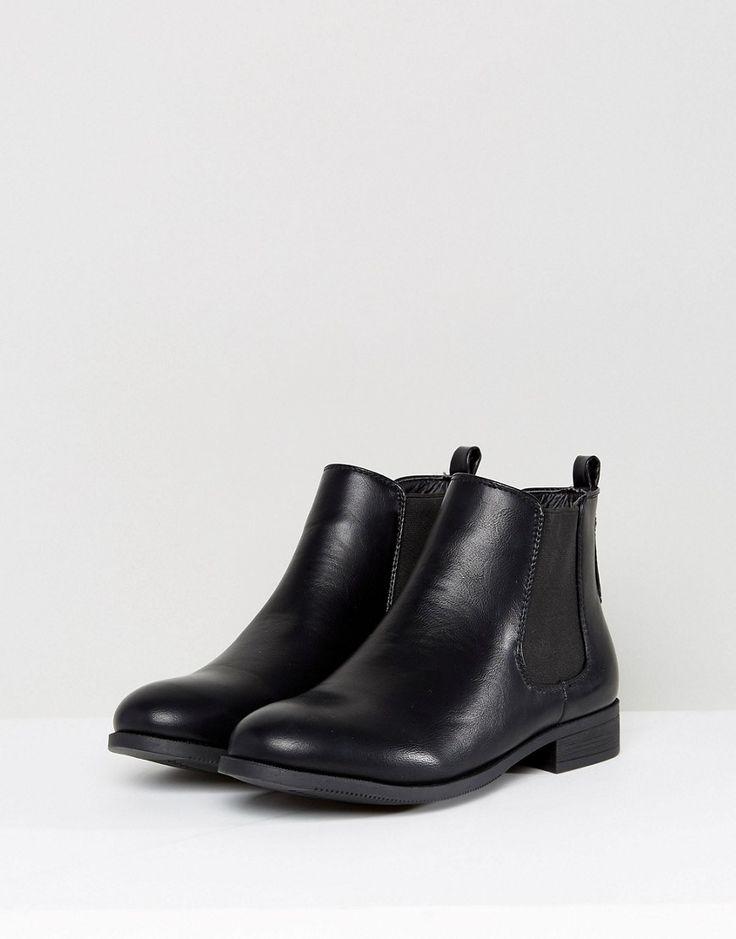 Park Lane Flat Chelsea Boots - Black