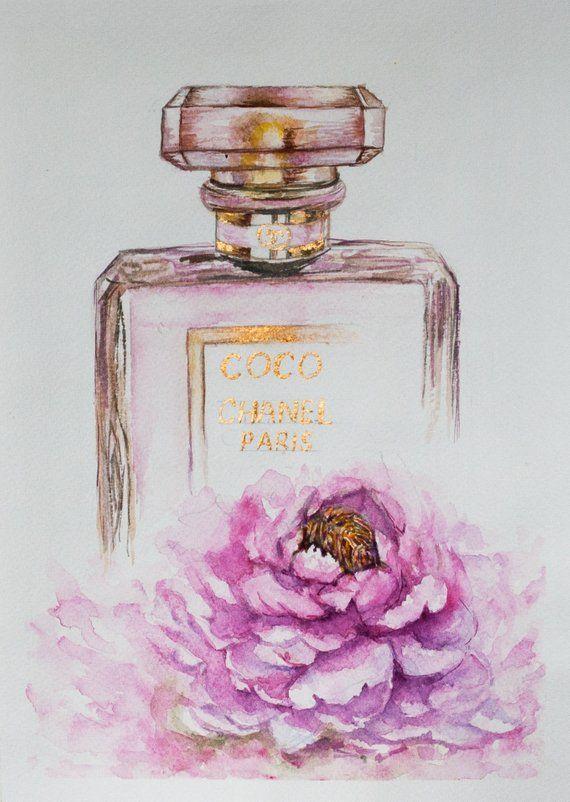 Chanel Perfume Bottle Chanel Perfume Fashion Wall Art