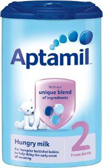 Aptamil 2 Hungry Milk from Birth 900g www.mumzzy.com - case of 6 £69.25