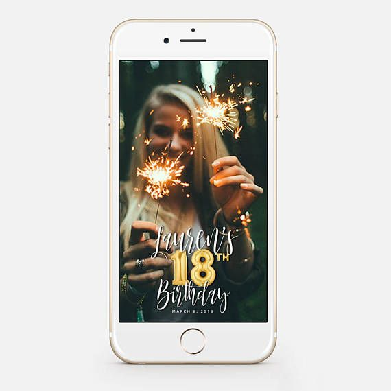 LIMITED TIME! Snapchat Geofilter Birthday Snapchat Birthday Geofilter 18th Birthday Gift for Her Birthday Filter Gold Balloons bir10_18 by JessicaMichaelPrints
