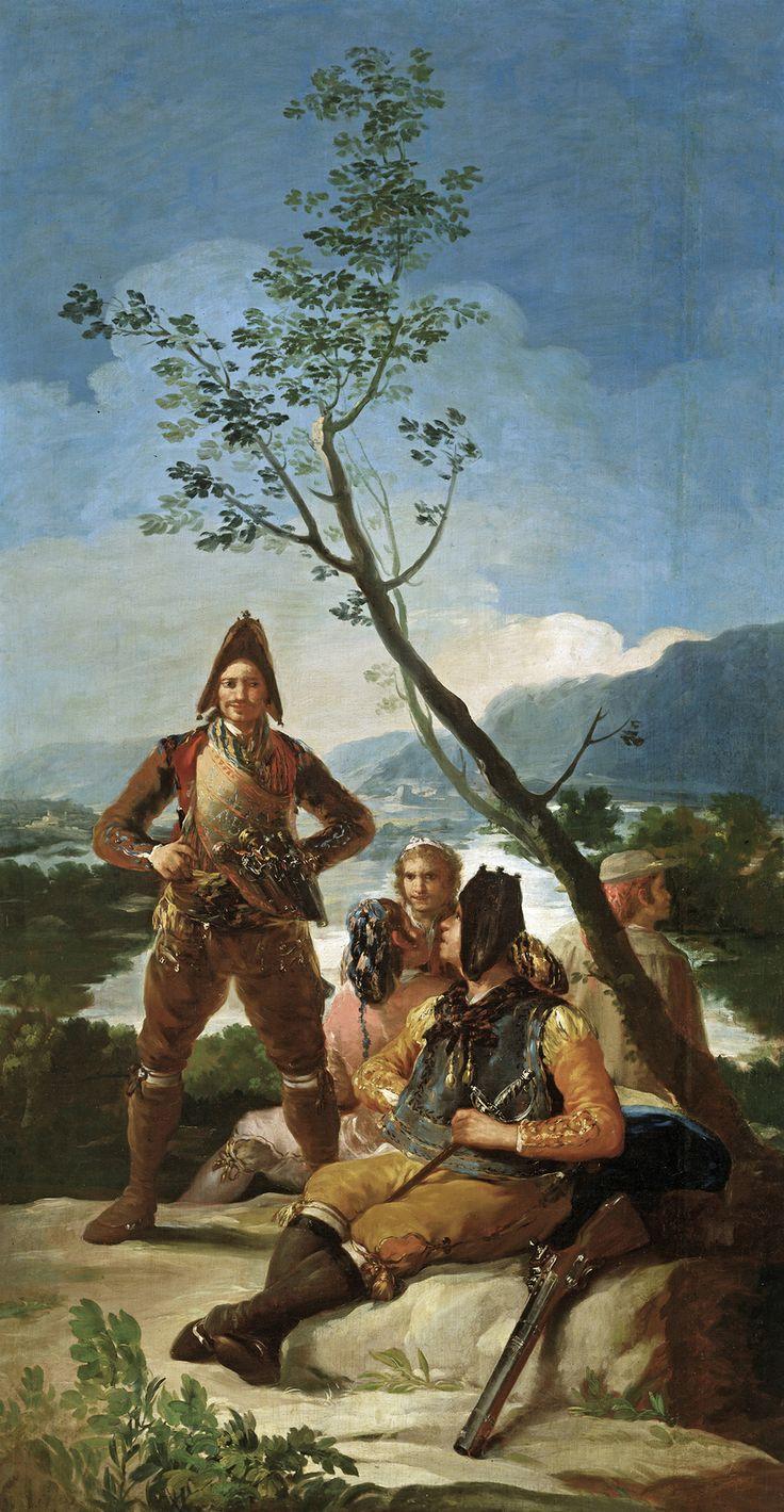 """Francisco de Goya: """"El resguardo de tabacos"""". Oil on canvas, 262 x 137 cm, 1780. Museo Nacional del Prado, Madrid, Spain"""