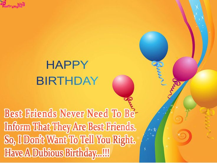 Funny Birthday Poems For Friends In English Poemsrom