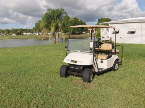 EZ GO #golfcart For Sale in Vero Beach, FL. Charger included. Front seat and back seat. Back seat folds down for a work area. Overall very good condition.