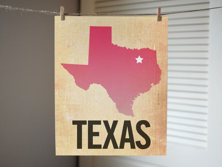 Texas Art, State Print TX, Texas Ombre Map Print, Burlap, Dallas, Texas Gift by AGierDesign on Etsy https://www.etsy.com/listing/164775660/texas-art-state-print-tx-texas-ombre-map