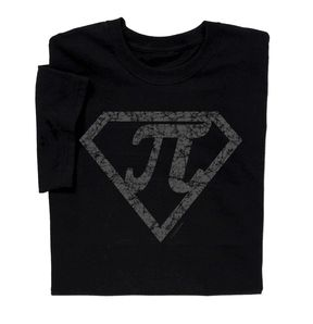 Super Pi T-shirt - Back to School Sale! Show the world you are mathematically inclined with this fun t-shirt. AT ComputerGear.com.