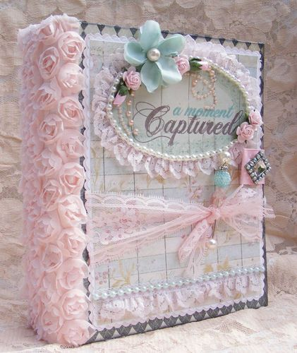ELITE4U Shabby Chic Style Scrapbooking Album Flowers Lace Paper Piecing Toni | eBay