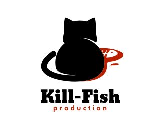 Kill Fish Logo - This logo is ideal for art, design, creative services, entertainment & media, and any related businesses. Price $500.00