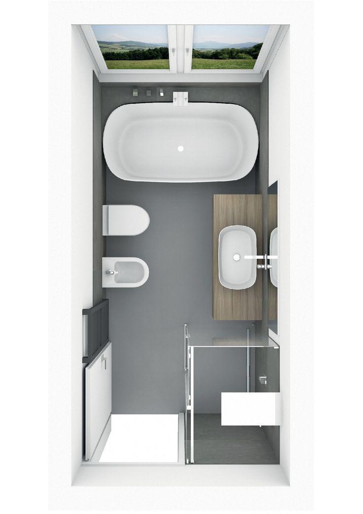 Badplanung mit freistehender Badewanne mit Ablage